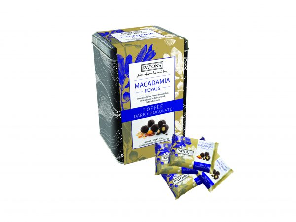 Royals Tin Chocolate Macadamia Dark