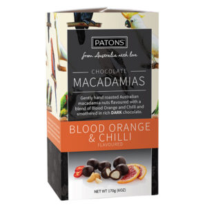 Artisan Dark Chocolate Blood Orange and Chilli Macadamias - SALE $4.13 each