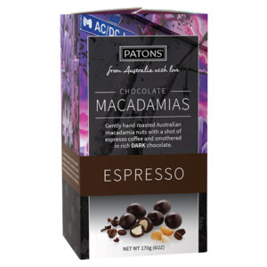Artisan Dark Chocolate Espresso Macadamias - SALE $5.00 each