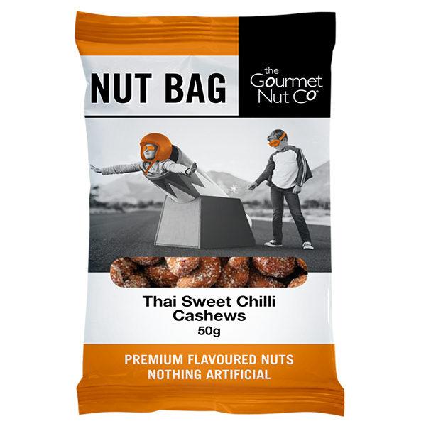 Nut Bag Thai Sweet Chilli Cashews - SALE $2.00 each