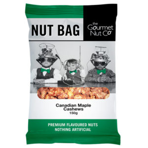 Nut Bag Maple Cashews - SALE $2.00 each