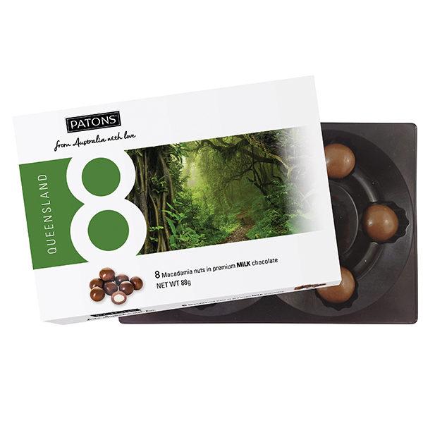 Lucky 8 Milk Chocolate Macadamia Queensland - SALE $2.20 each